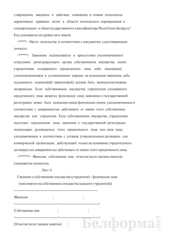 Заявление о государственной регистрации коммерческой организации. Страница 9