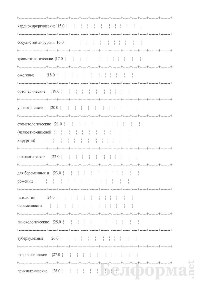 Отчет о выполнении территориальных программ государственных гарантий по обеспечению медицинским обслуживанием граждан в стационарах круглосуточного пребывания. Форма № 4 ТПГГ (профиль). Страница 14