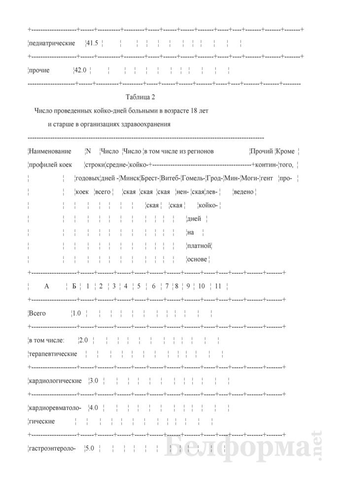 Отчет о выполнении территориальных программ государственных гарантий по обеспечению медицинским обслуживанием граждан в стационарах круглосуточного пребывания. Форма № 4 ТПГГ (профиль). Страница 5