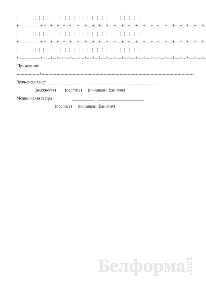 Контрольная карта процедур гемодиализа у детей. Форма № 5-гмд/у-08. Страница 6