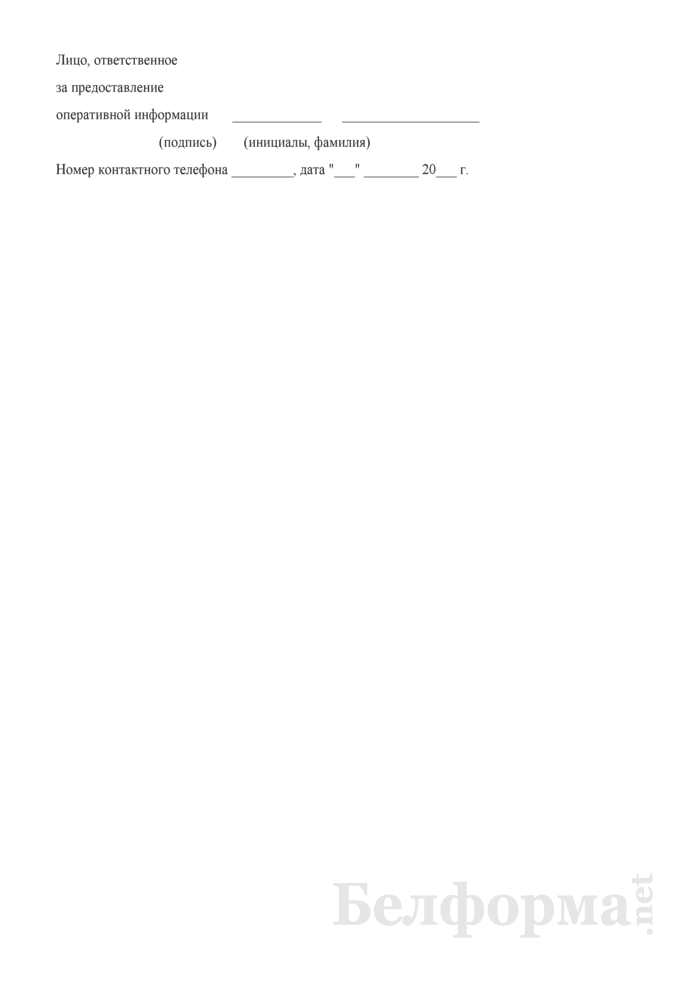 Оперативная информация об информационно-образовательной деятельности по проблеме ВИЧ/СПИД. Форма № 8 ВИЧ/СПИД (опер). Страница 2
