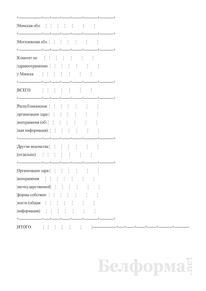 Оперативный отчет о переподготовке специалистов с высшим медицинским и фармацевтическим образованием. Форма № 13-УКПУОВС. Страница 2