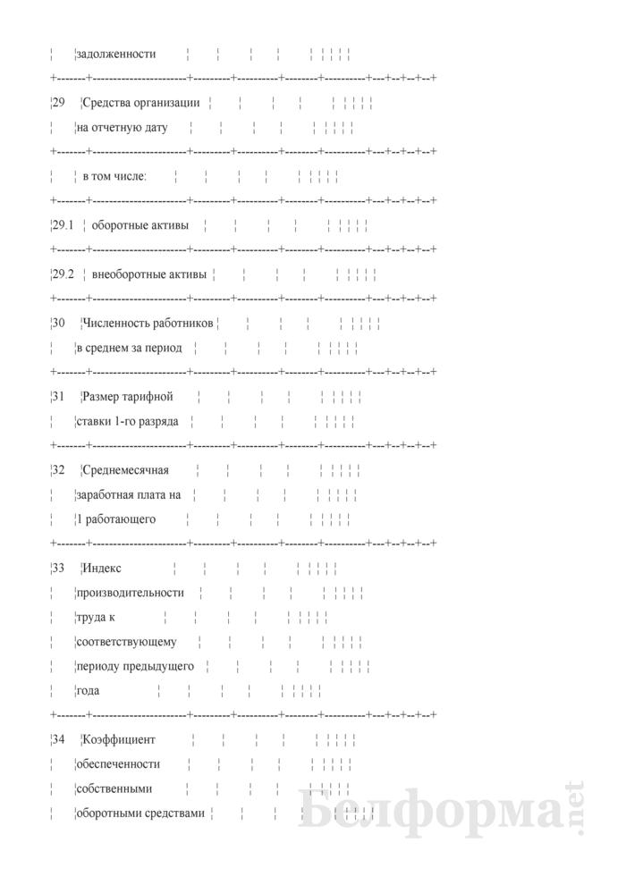 Основные показатели развития на очередной год. Страница 6