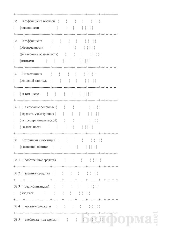 Основные показатели развития на очередной год. Страница 7