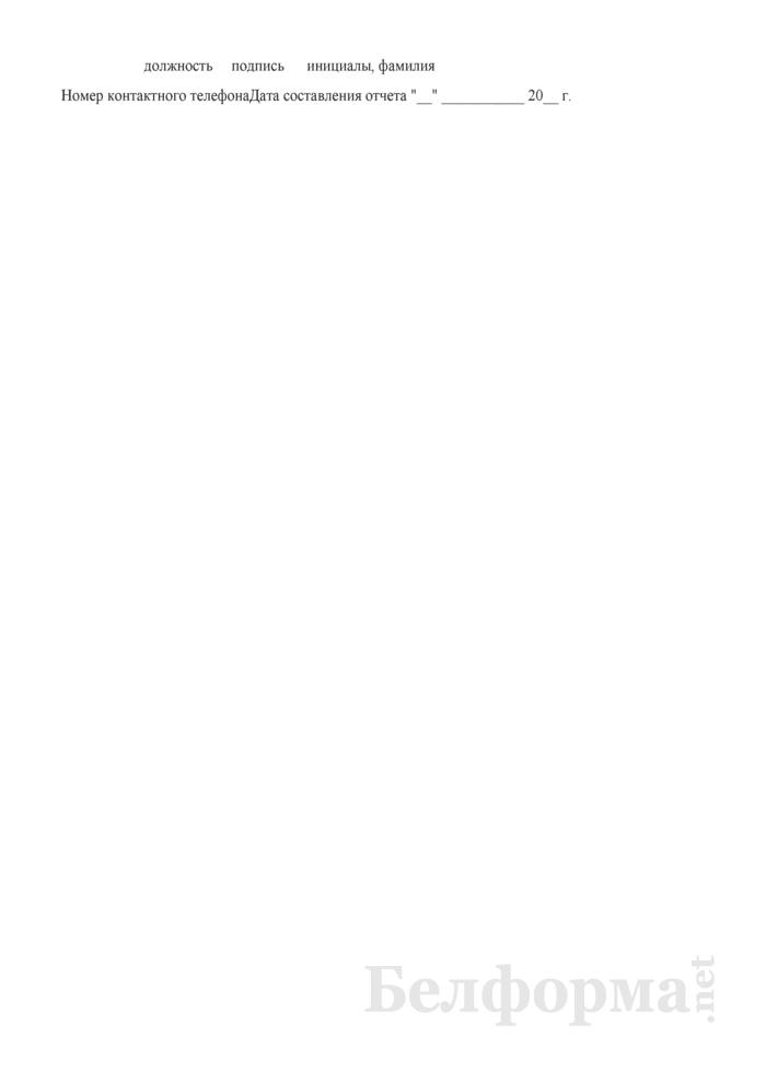 """Отчет о ходе финансирования объектов, включенных в план строительства 20__ г. по ГУ """"Дирекция строящегося предприятия Министерства здравоохранения Республики Беларусь"""". Страница 2"""