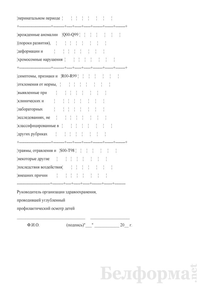 Отчет о результатах диспансеризации детей. Форма № 21-вр. Страница 9