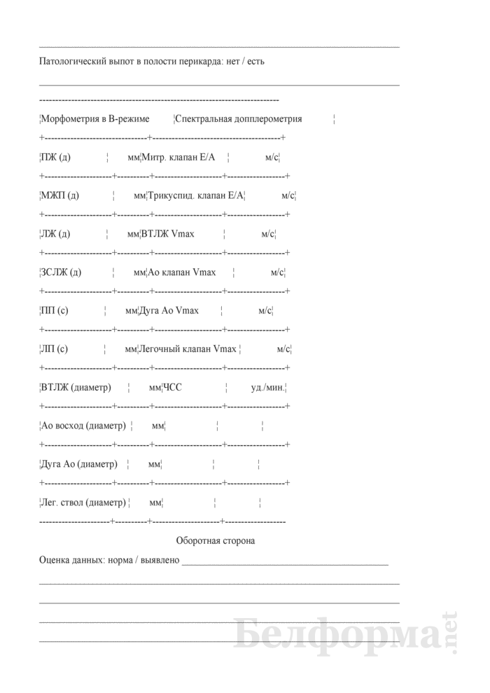 Протокол расширенного эхокардиографического исследования плода. Страница 2