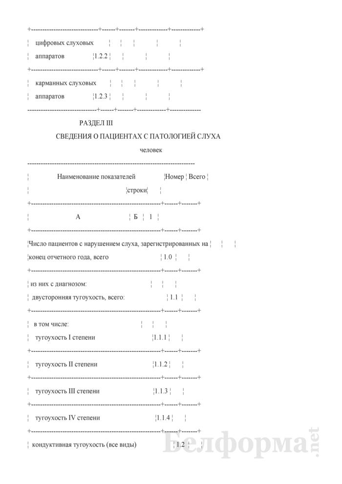 Сведения о деятельности оториноларингологической службы (годовая). Страница 4