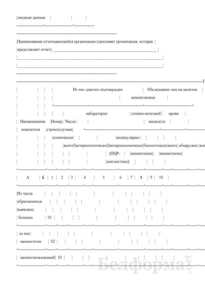 Сведения о характеристике циркулирующих штаммов менингококка среди больных и носителей (квартальная). Страница 2