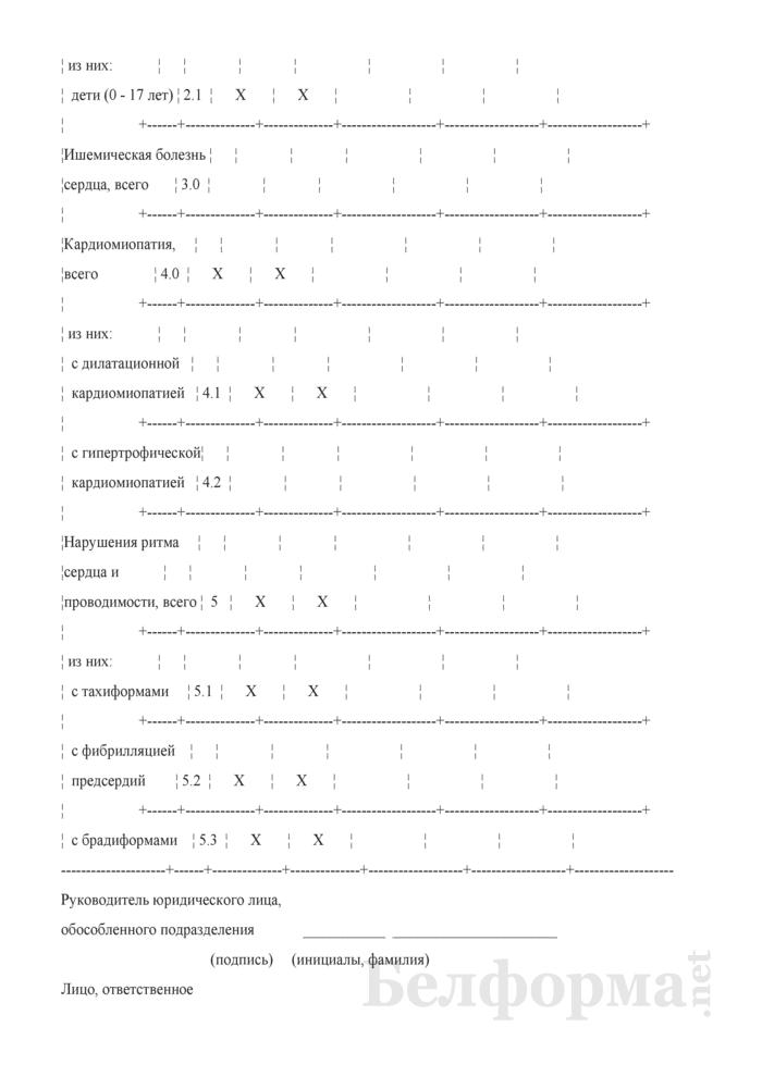Сведения о количестве пациентов с заболеваниями системы кровообращения, нуждающихся в получении кардиохирургической помощи (квартальная). Страница 3