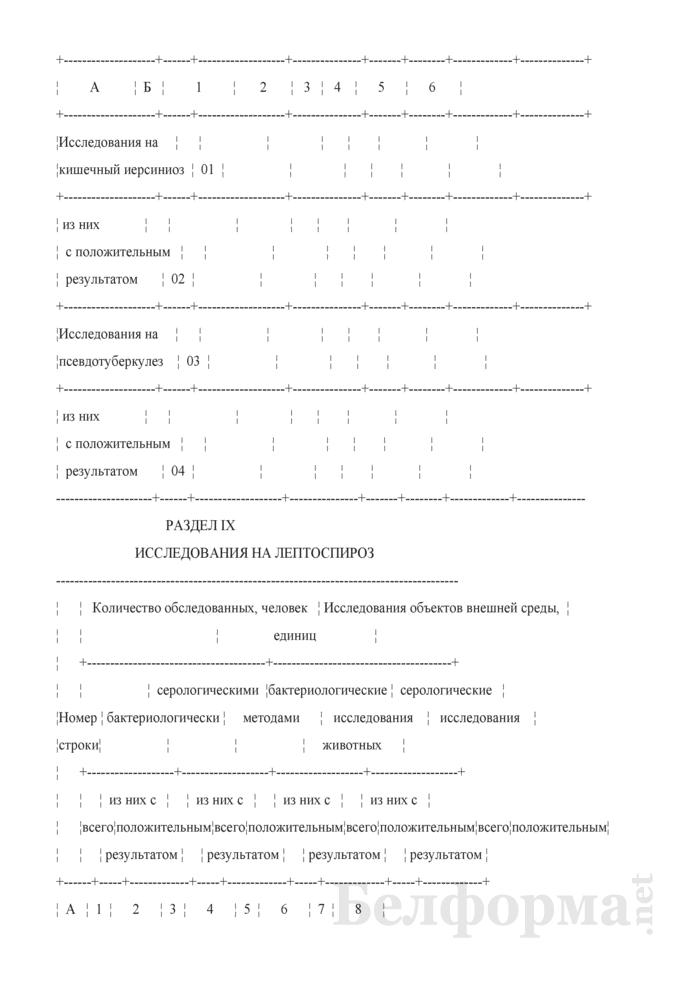 Сведения о противоэпидемических мероприятиях (годовая). Страница 14