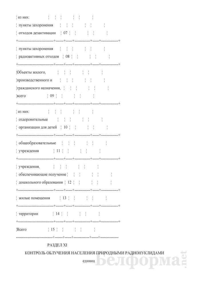 Сведения о радиационно-гигиенической обстановке на территории (годовая, полугодовая). Страница 36