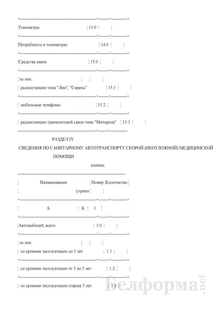 Сведения о состоянии службы скорой (неотложной) медицинской помощи Республики Беларусь (квартальная). Страница 10