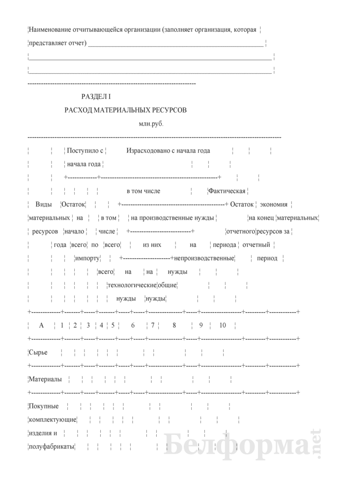 Сведения о внедрении мероприятий по экономии материальных ресурсов (квартальная). Страница 2