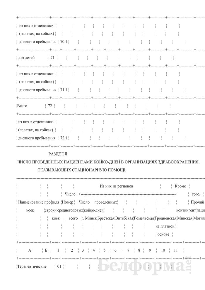 Сведения о выполнении территориальных программ государственных гарантий по обеспечению медицинским обслуживанием граждан в организациях здравоохранения, оказывающих стационарную помощь по профилю оказания (Форма 2-ТПГГ (годовая)). Страница 17