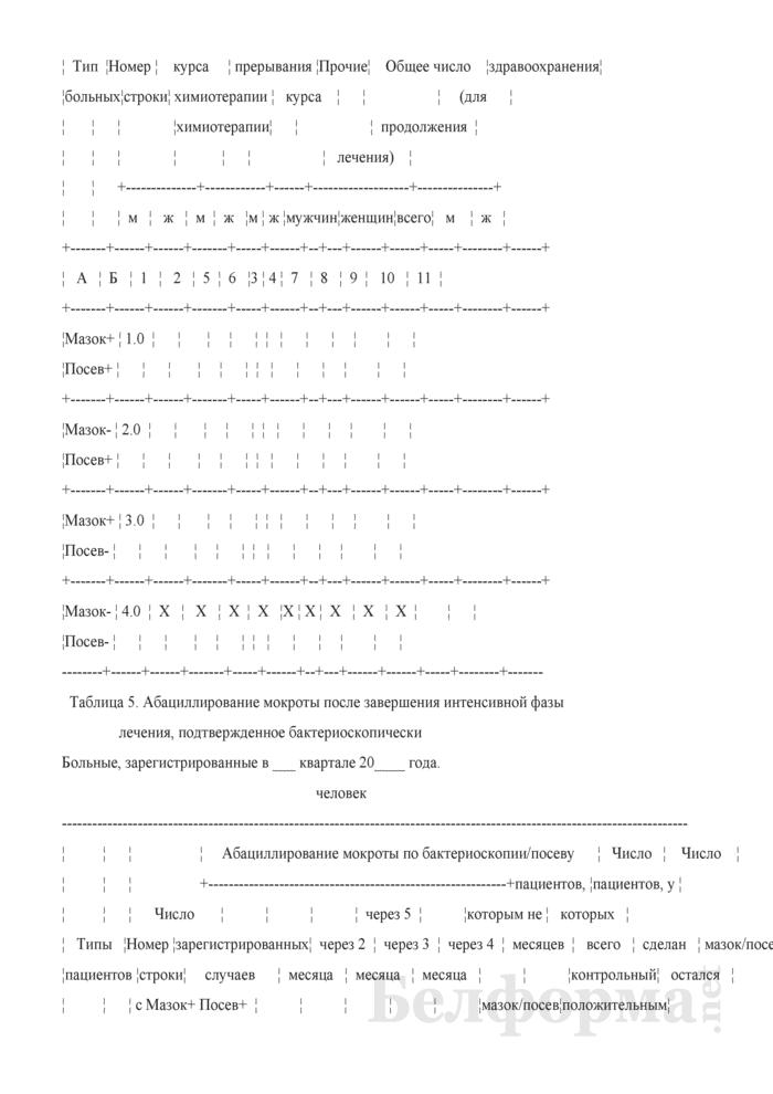 Сведения об эпидемической ситуации по туберкулезу и результатах лечения больных туберкулезом (квартальная). Страница 12