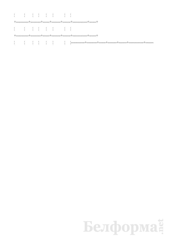 Журнал регистрации сеансов гипербарической оксигенации (ГБО). Форма № 2-гбо/у-06. Страница 2