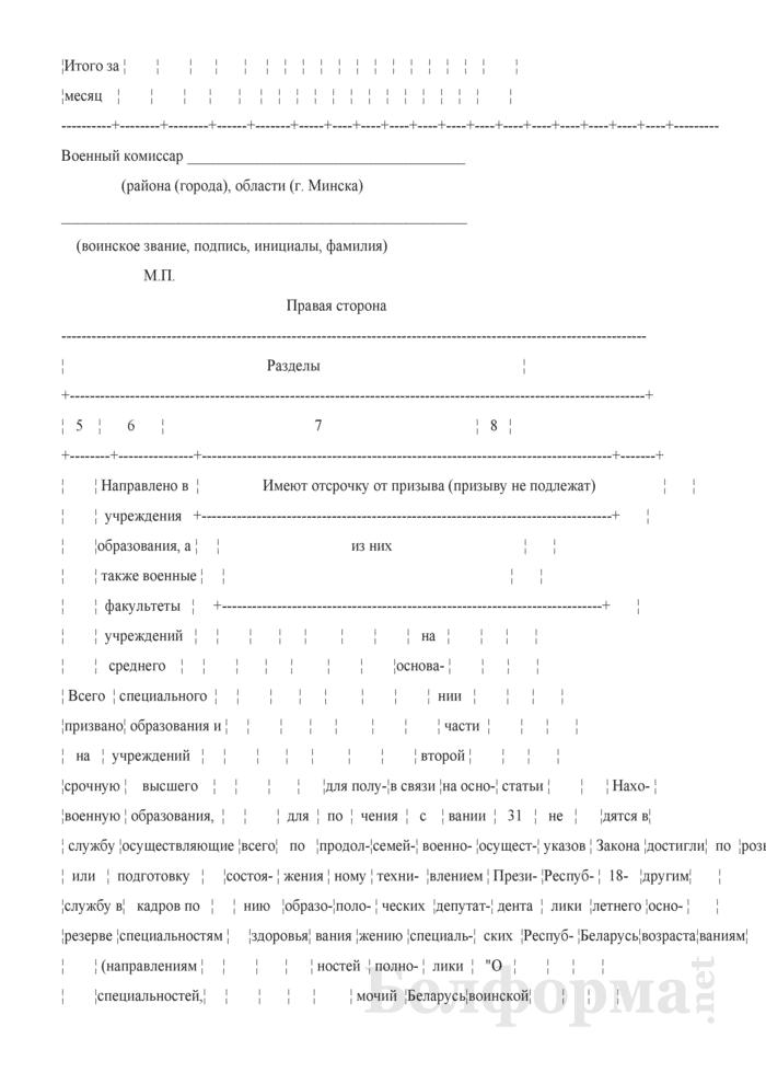 Журнал учета наличия и движения призывников в военном комиссариате. Страница 2
