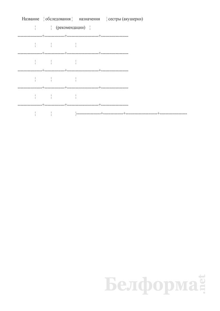 Журнал учета работы на дому участковой (патронажной) медицинской сестры, акушерки. Форма № 116/у. Страница 2