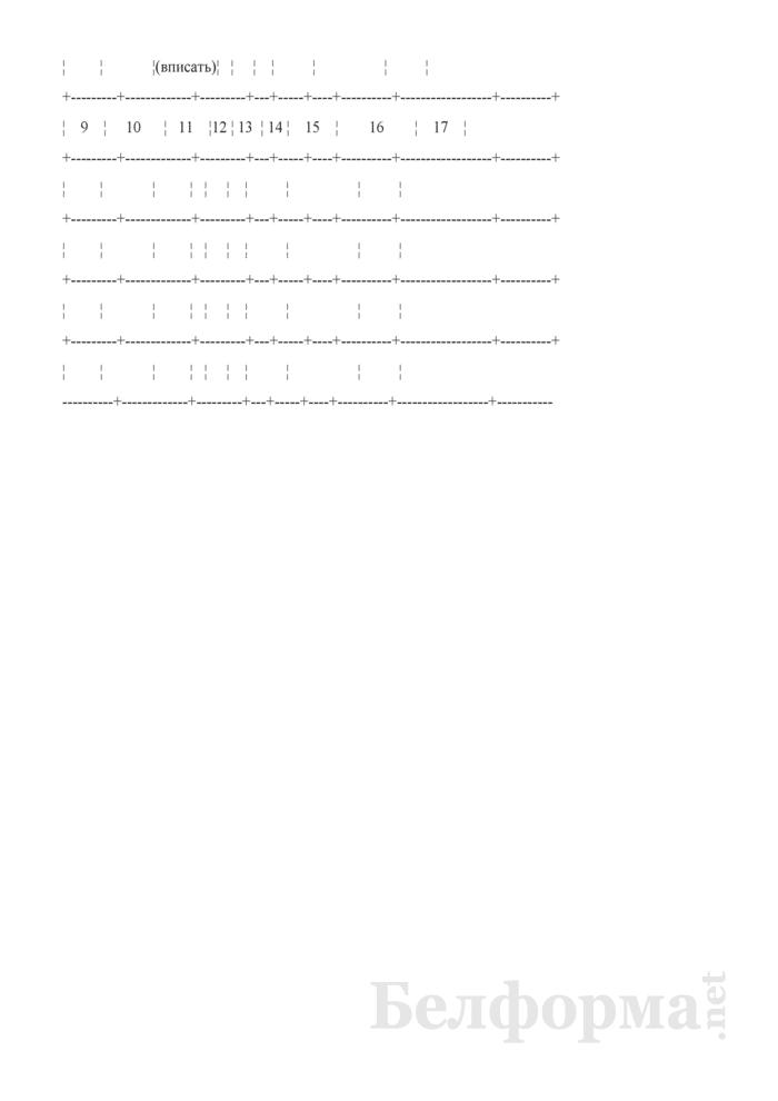 Журнал записи родов в стационаре (Форма № 10/у). Страница 2