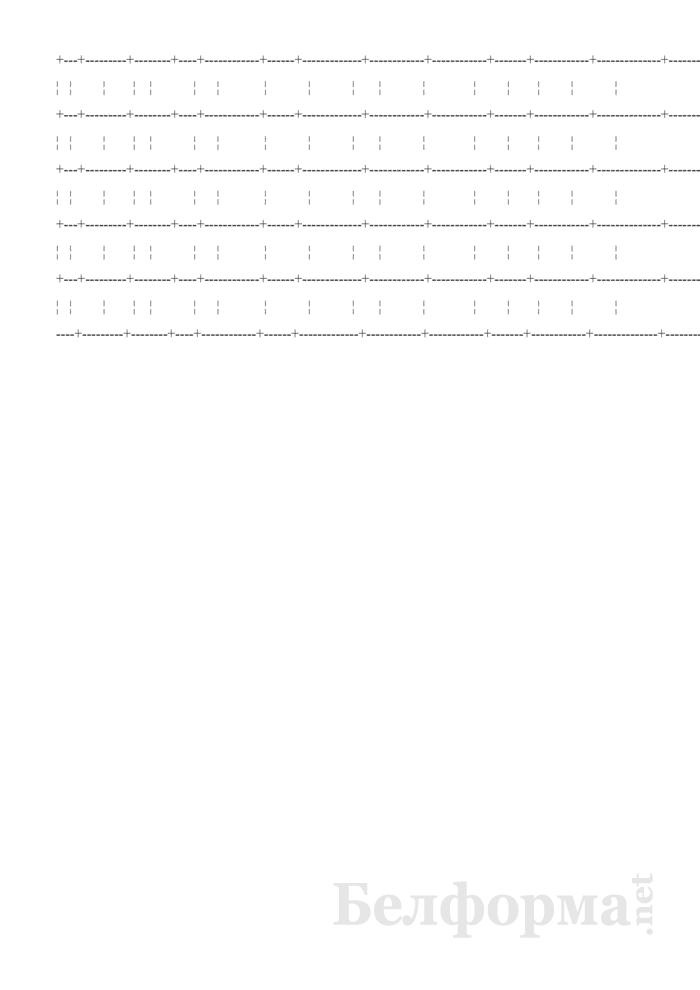 Журнал записи вызовов службы скорой (неотложной) медицинской помощи (Форма № 109/у-09). Страница 2